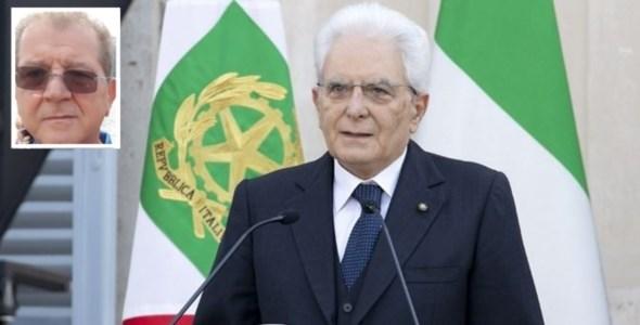 Il presidente Mattarella e il poeta Minuzza
