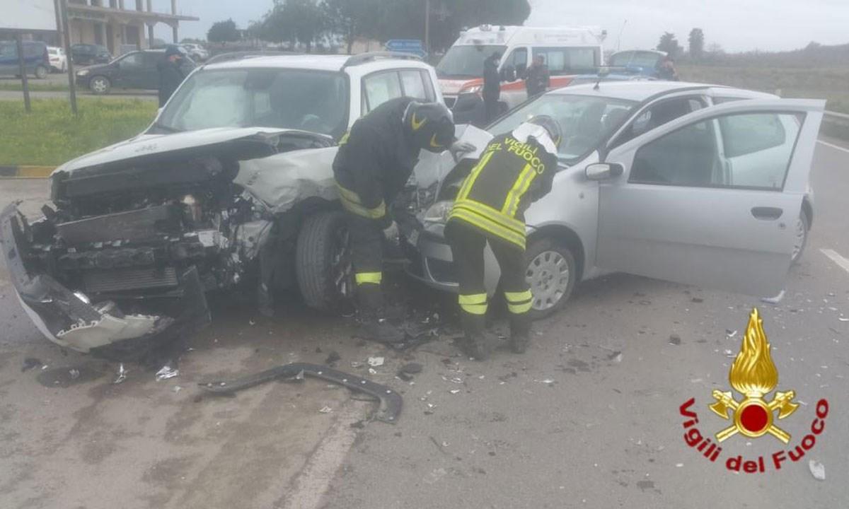 Le due auto coinvolte nel sinistro