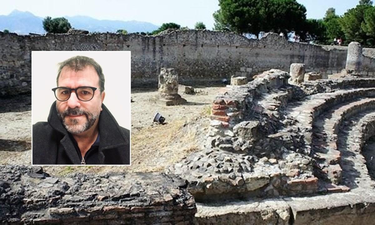 Gli scavi a Sibari e, nel riquadro, Filippo Demma