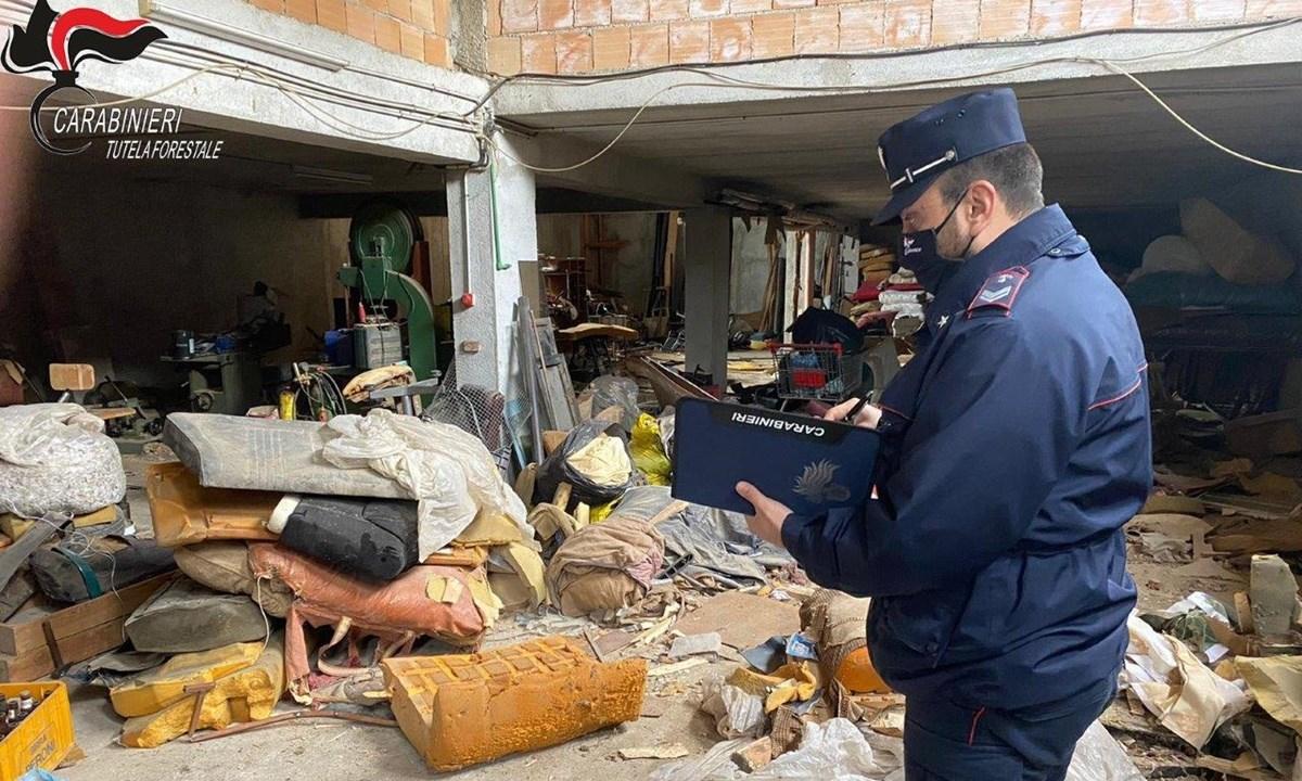 L'area sequestrata dai carabinieri forestali