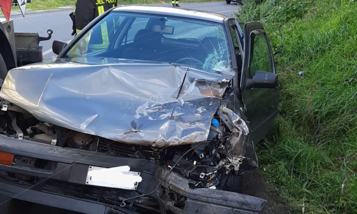 L'auto coinvolta nell'incidente di Triparni