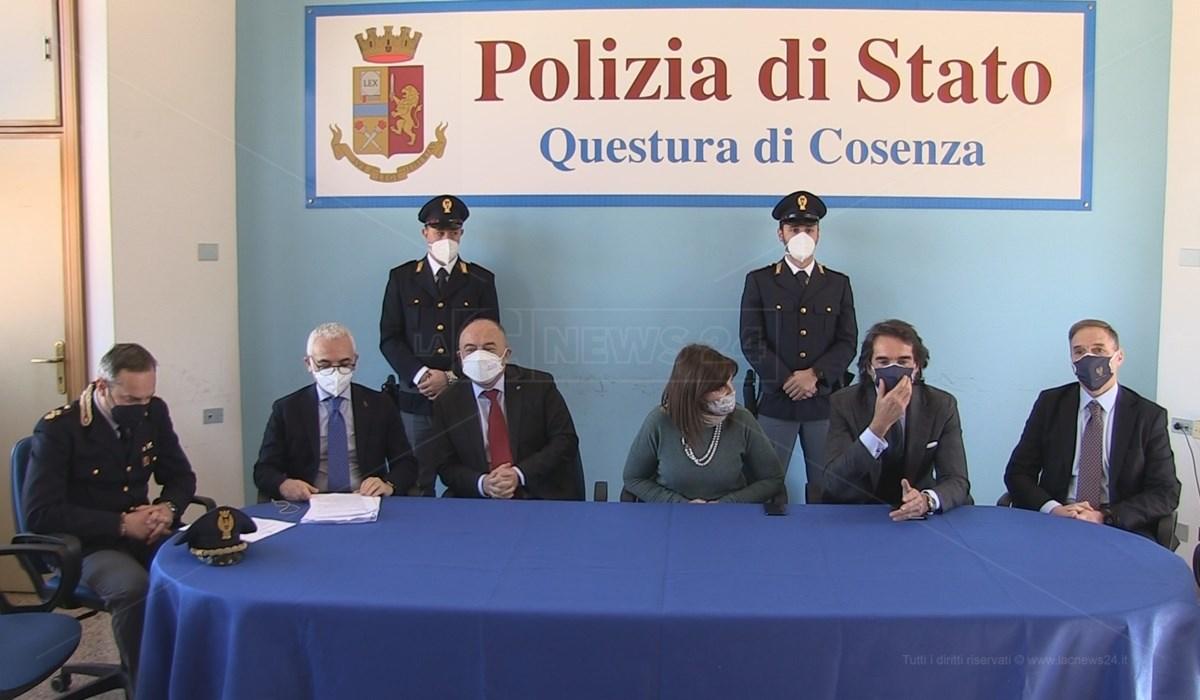 Operazione Kossa, la conferenza stampa organizzata in Questura a Cosenza