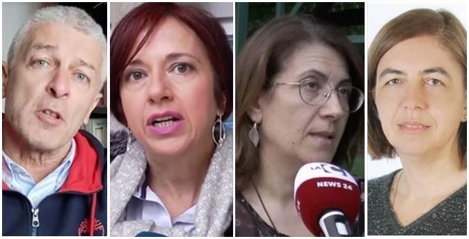 Da sinistra: Morra, Granato, Abate e Corrado