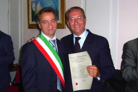 Catricalà e l'ex sindaco di Chiaravalle Bruno