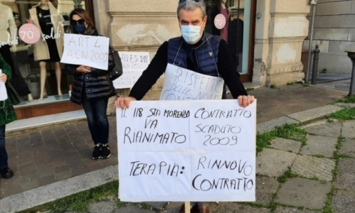 Protesta a Catanzaro, foto ansa