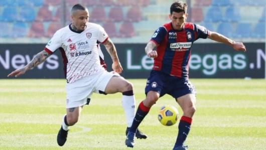 Serie A, il Crotone cade in casa contro il Cagliari: per la salvezza si fa davvero dura