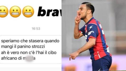 Insulti via Instragram al calciatore del Crorone Ounas: «È normale questo?»