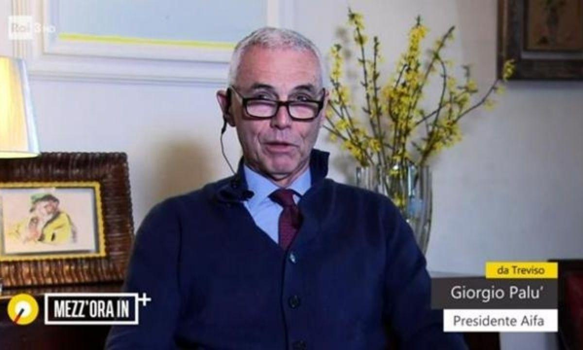 Un frame dell'intervista a Giorgio Palù a Mezz'ora in più