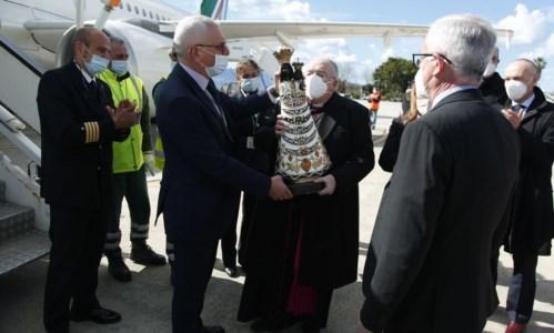 Arrivata a Reggio Calabria la statua della Madonna di Loreto