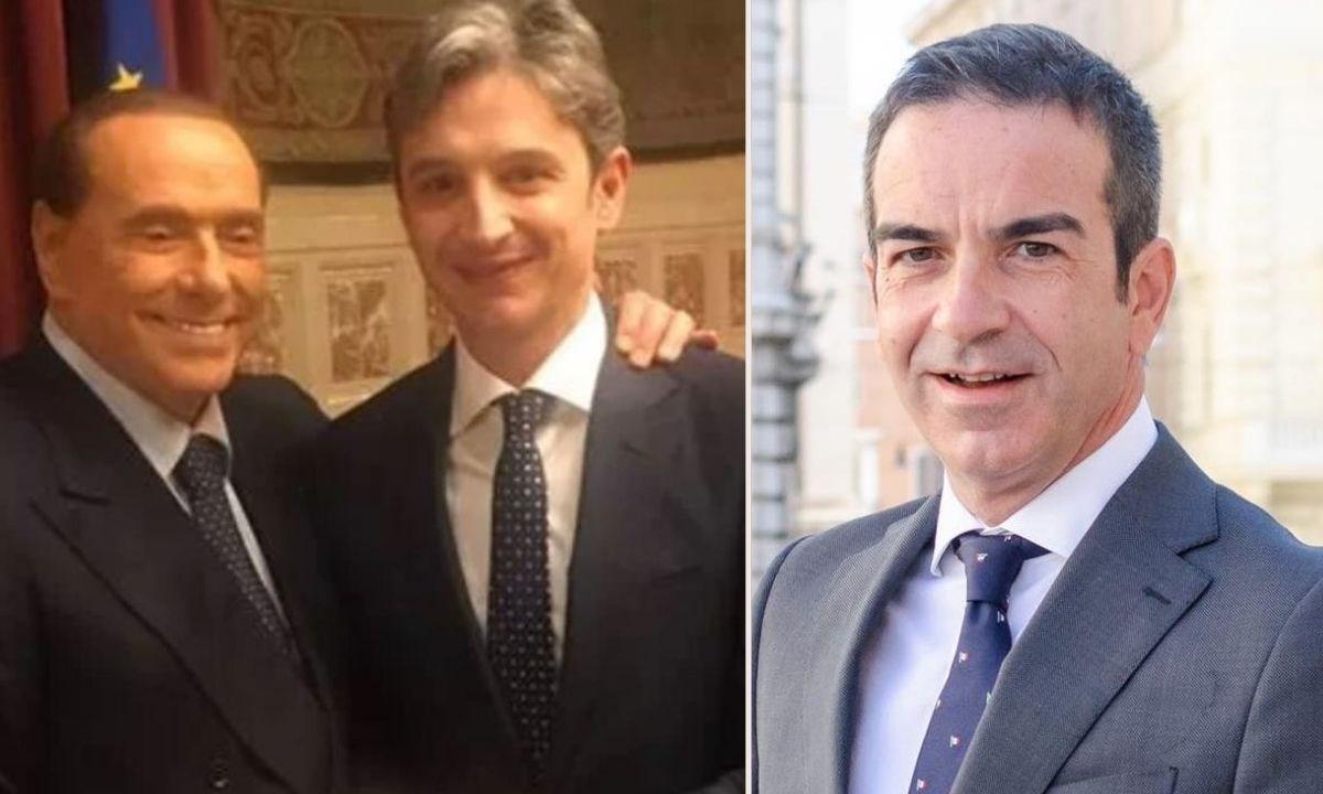 Da sinistra, Berlusconi, Mangialavori e Roberto Occhiuto