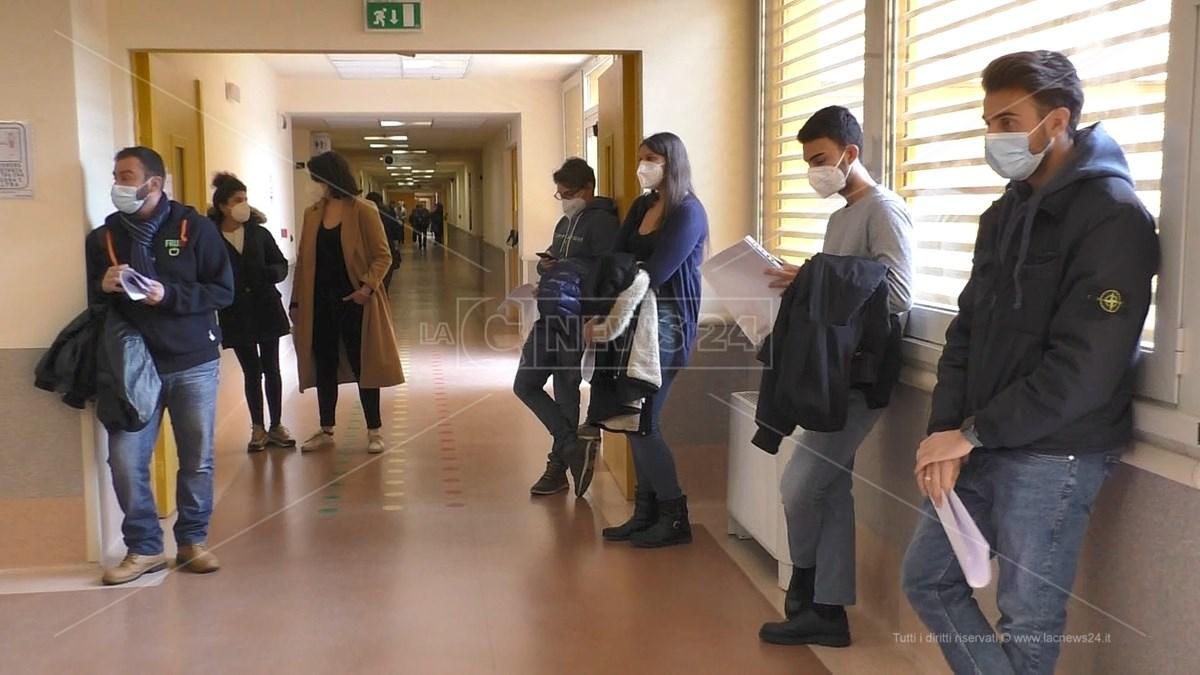Studenti di Medicina al policlinico di Catanzaro