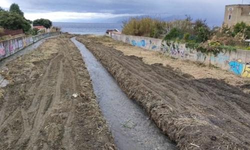 La foce del torrente Annunziata a Reggio Calabria