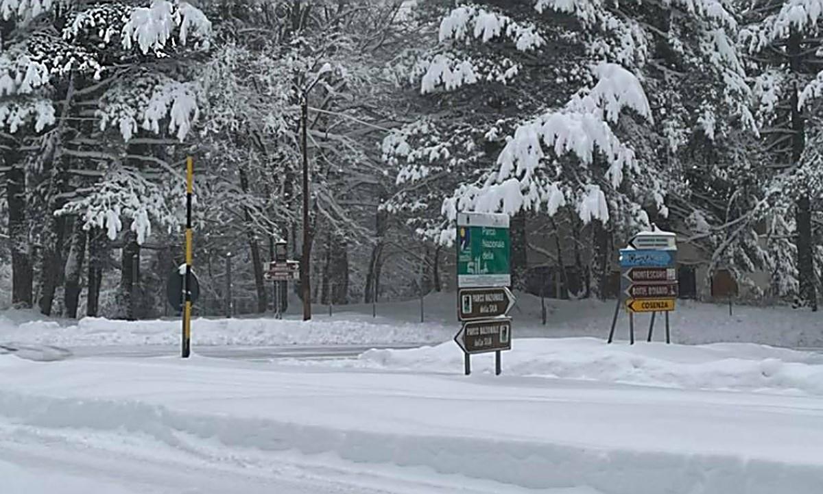 Neve in Calabria, foto da Meteo in Calabria