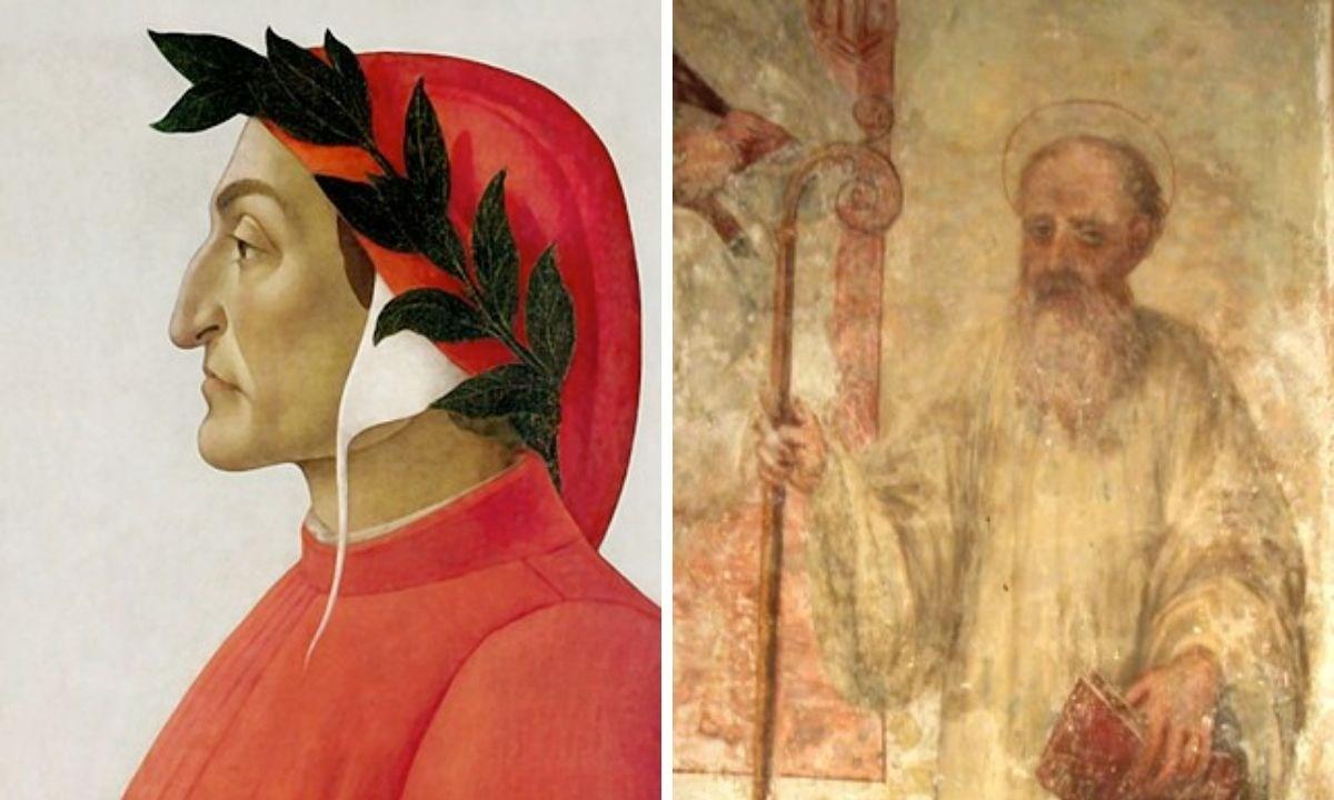 Rappresentazioni di Dante e Gioacchino da Fiore