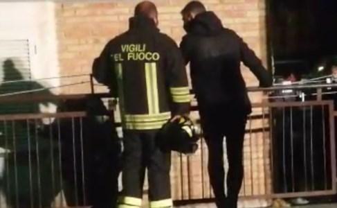 Villaggio Frassa - I vigili del fuoco sul posto