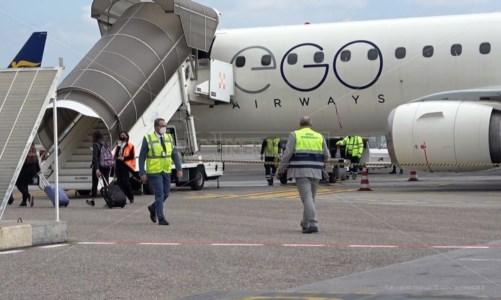 Primo volo Ego Airways in Calabria: così l'aeroporto di Lamezia prova a ripartire