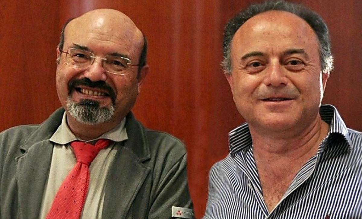 Lo scrittore Pino Aprile e il procuratore Nicola Gratteri