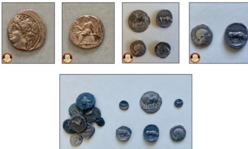 Consegnate al parco archeologico di Sibari antiche monete vendute illegalmente su internet