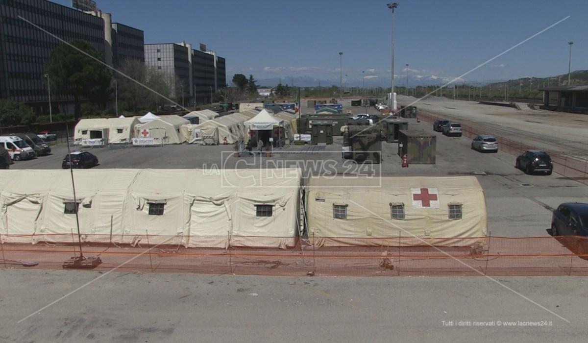 L'ospedale militare montato a Cosenza