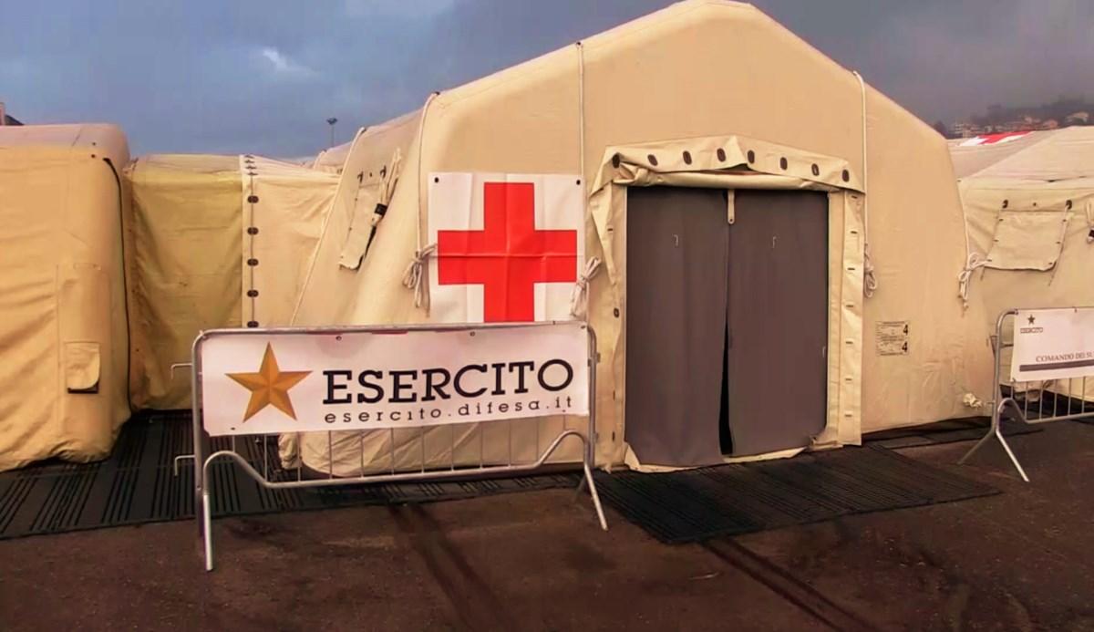 L'ospedale militare a Cosenza