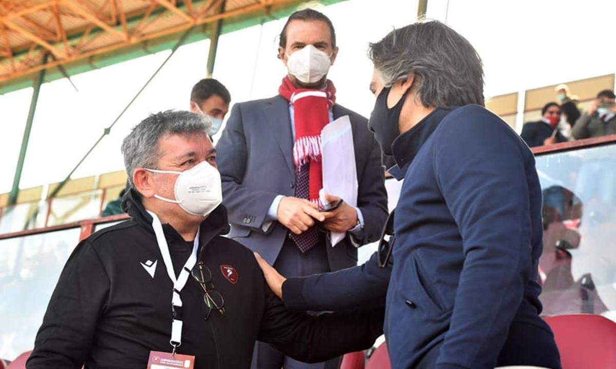 Nino Spirlì e il sindaco di Reggio Calabria Giuseppe Falcomatà allo stadio Granillo (foto Facebook)
