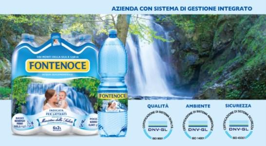 Qualità, ambiente, sicurezza: la produzione acqua Fontenoce