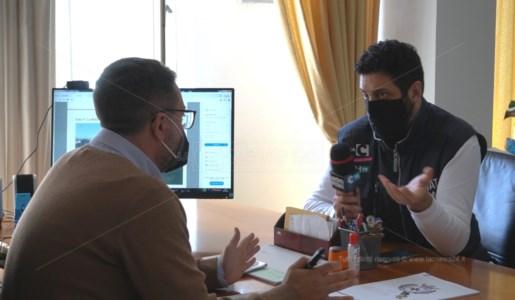 L'inviato speciale Michele Macrì insieme al sindaco di Scalea, Giacomo Perrotta