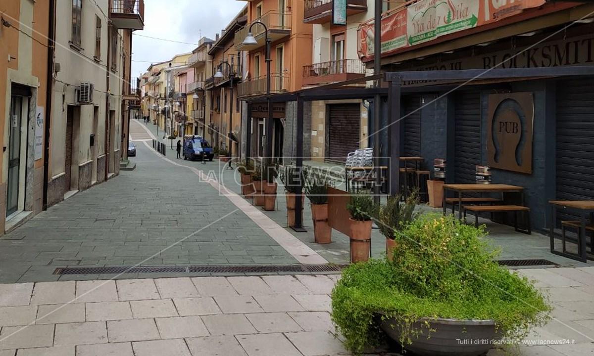 Corso Sandro Pertini ad Acri
