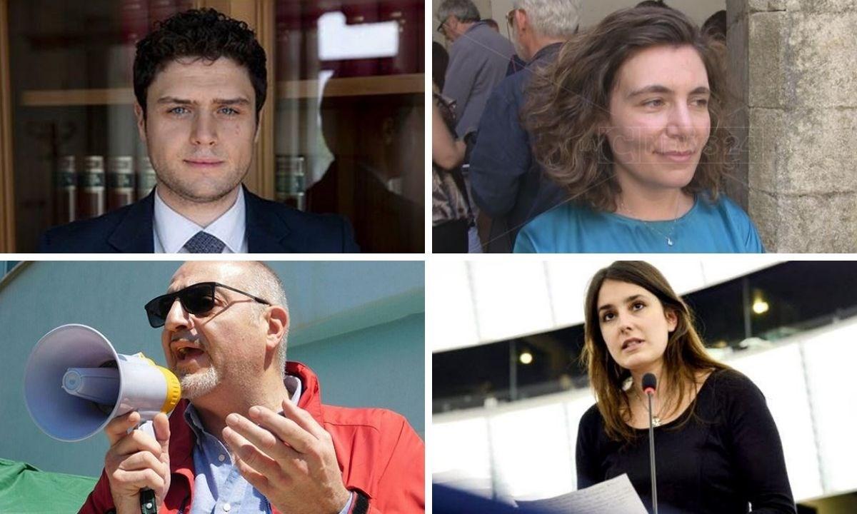 I parlamentari del M5S Anna Laura Orrico, Laura Ferrara, Massimo Misiti e Alessandro Melicchio