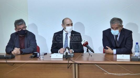Il vice ministro Morelli tra Spirlì e Agostinelli