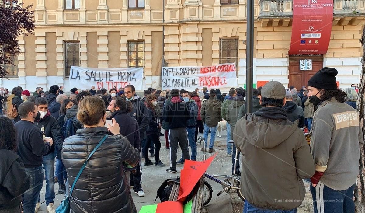 Il sit-in di protesta per la sanità pubblica