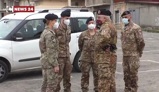 Vaccini Taurianova, Spirlì e il colonnello Zizza nel centro modello di collaborazione con l'Esercito