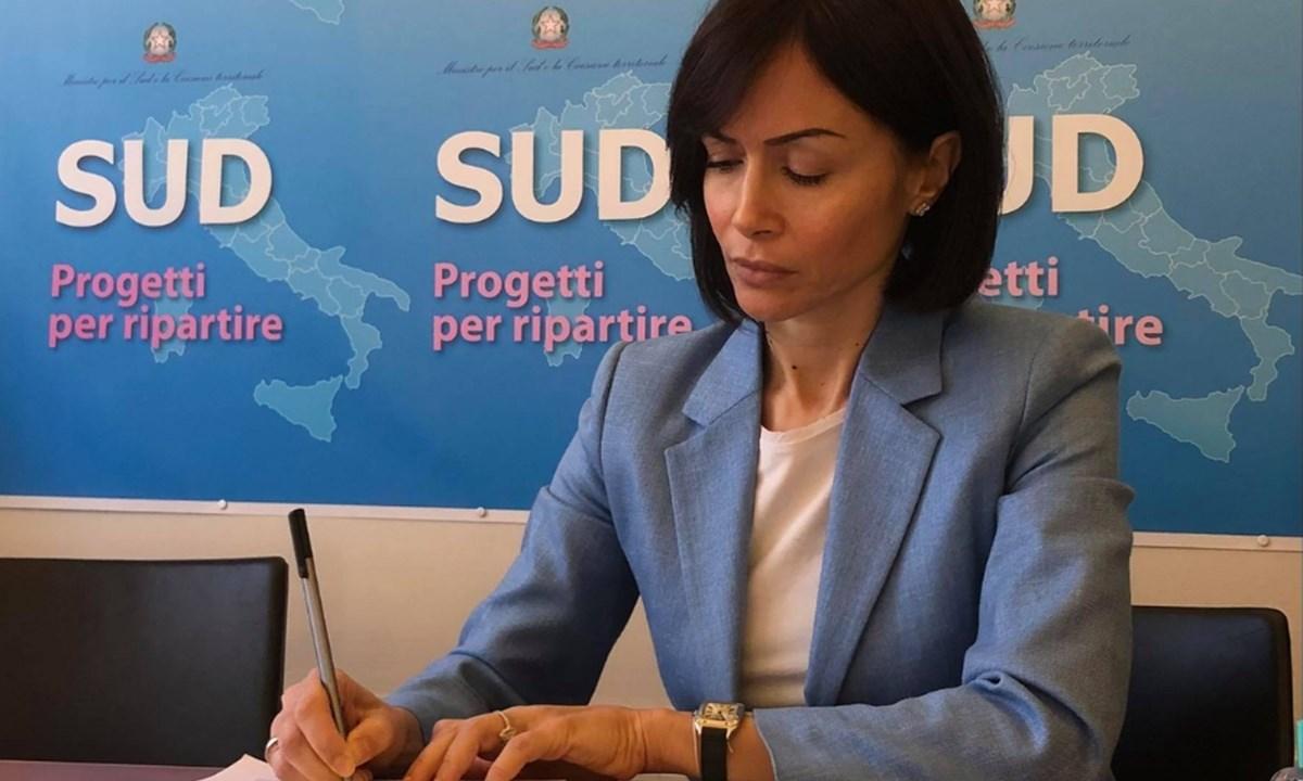 Il ministro per il Sud, Mara Carfagna