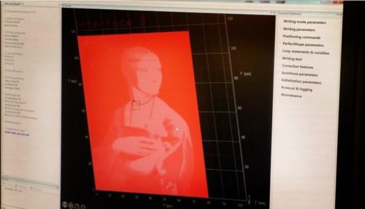 Unical e Cnr creano il dipinto 3D più piccolo al mondo: sta sulla punta di uno spillo