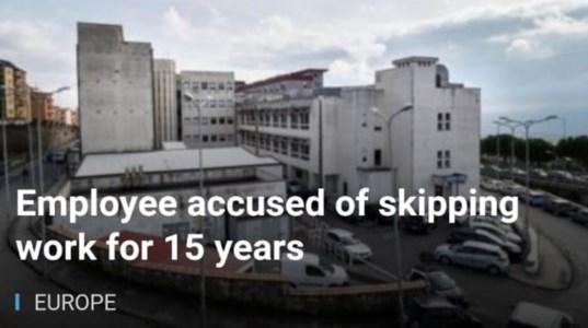 Finisce anche sulla Bbc la storia del dipendente del Pugliese assenteista per 15 anni