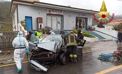 L'auto coinvolta nell'incidente a Nocera