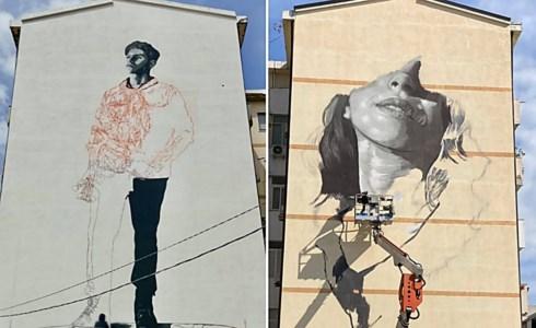 I murales di Reggio, foto da fb del sindaco Falcomatà