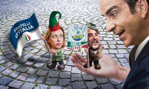 Occhiuto, Salvini e Meloni (foto di Nino Florenzano)