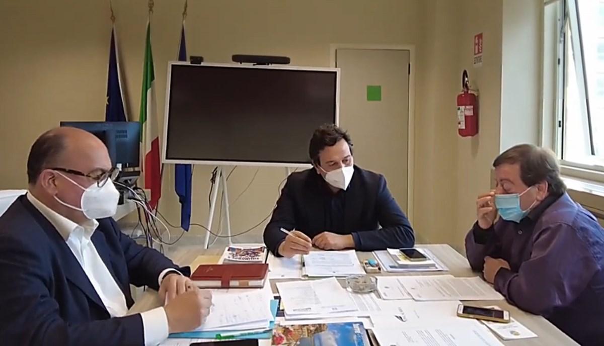 La riunione alla cittadina con l'assessore Orsomarso e il consigliere Guccione
