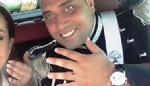 Mario Cerciello Rega nel giorno delle nozze