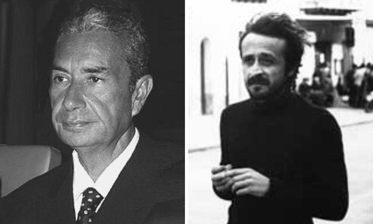 A destra Aldo Moro, a sinistra Peppino Impastato
