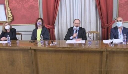La conferenza stampa di presentazione del progetto presieduta da Franco Iacucci