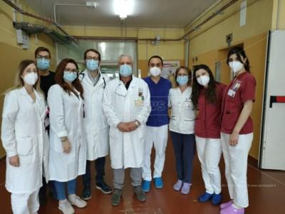 Medici e infermieri del reparto di Medicina Covid dell'azienda ospedaliera Pugliese-Ciaccio di Catanzaro