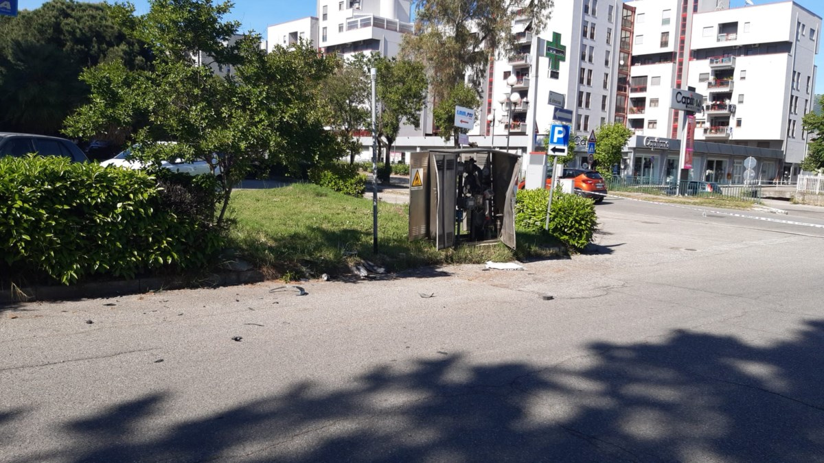 Il luogo dell'incidente a Rende