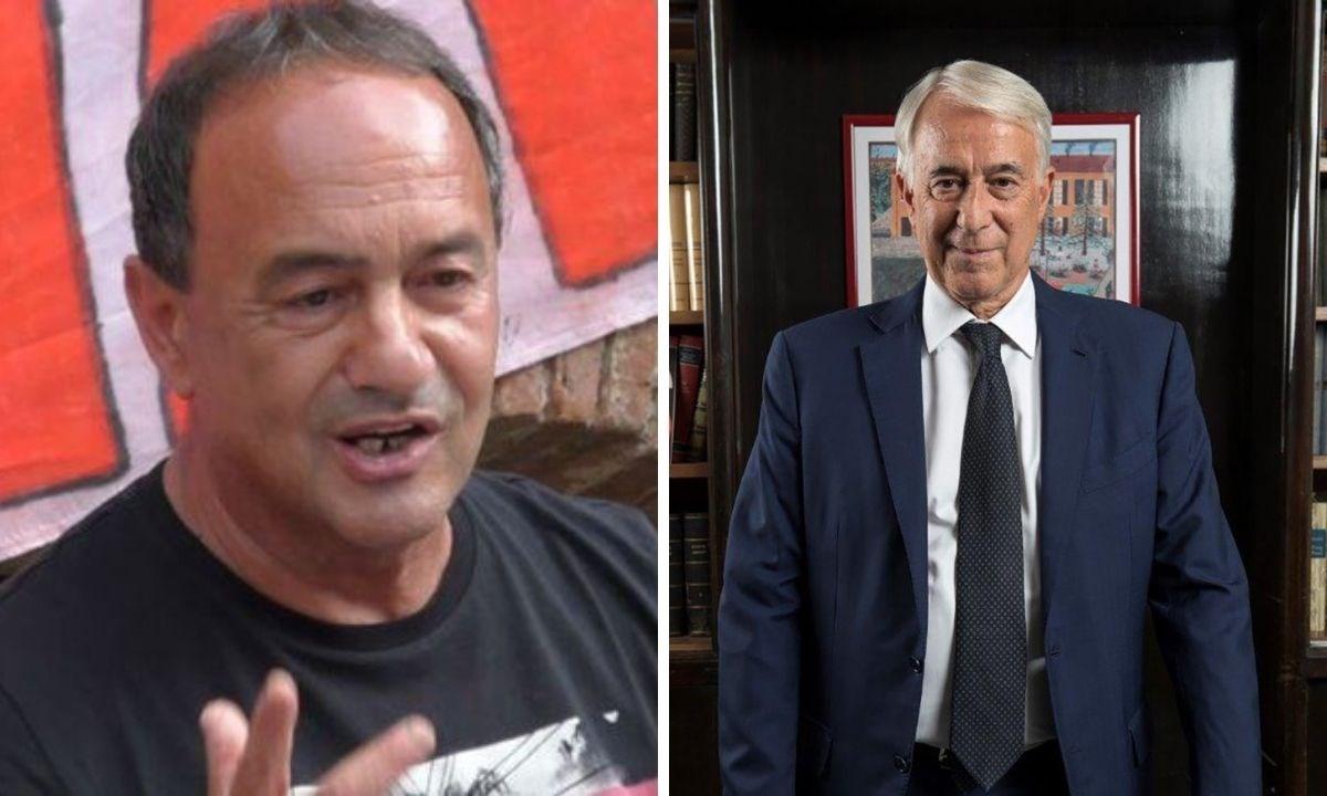 Da sinistra Lucano e l'avvocato Pisapia