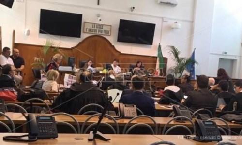 Udienza del processo nel quale è imputato Mimmo Lucano