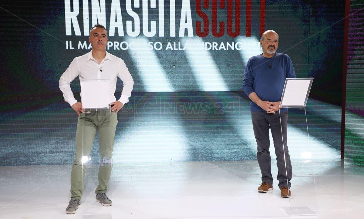Pietro Comito e Pino Aprile in studio