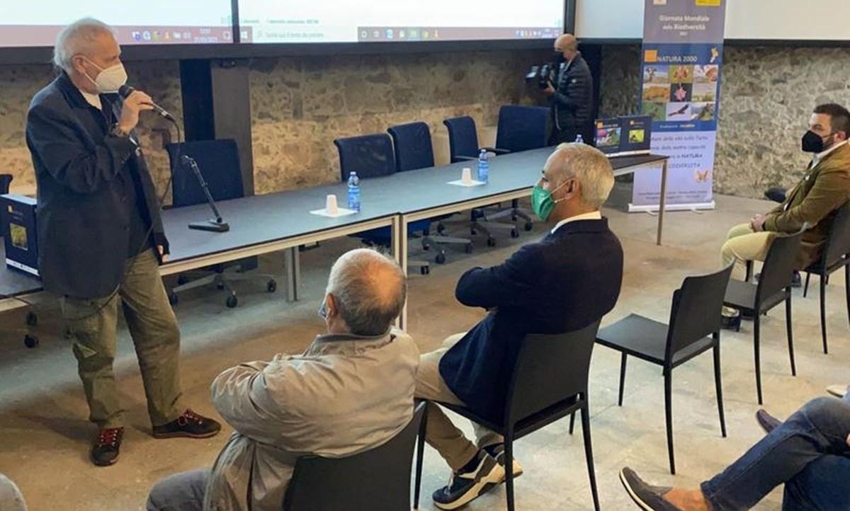 L'assessore de Caprio durante l'evento a Mongiana