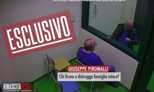 Il boss Piromalli in carcere durante un colloquio