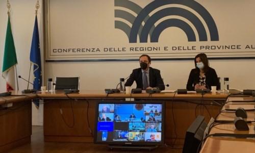 Un momento dell'incontro che si è svolto in video conferenza
